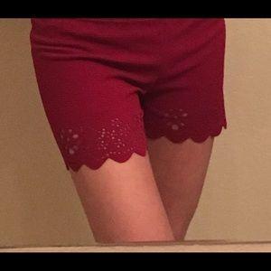 Pants - Burgundy shorts